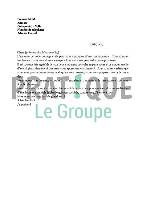 Exemple De Lettre Type Pour Congé Paternité sle cover letter exemple de lettre pour un mariage