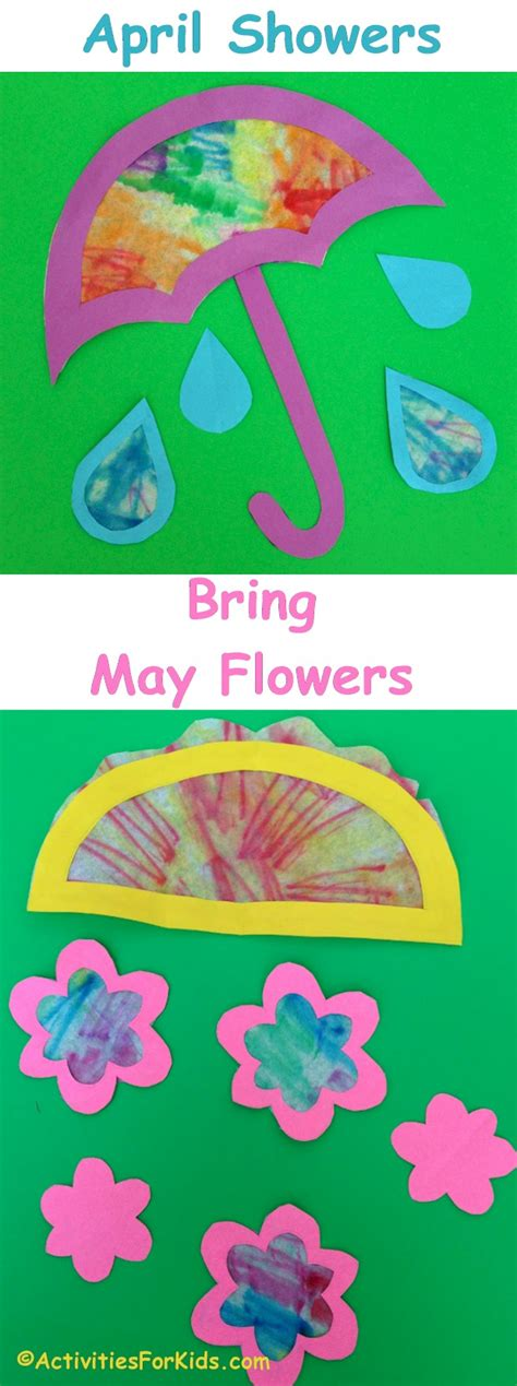 april showers bring may flowers craft for
