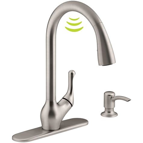 kohler touch kitchen faucet kohler barossa with response touchless technology single