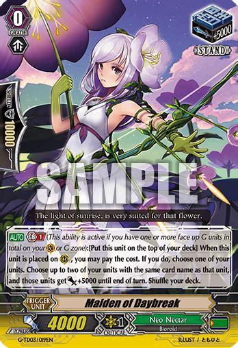 Cardfight Vanguard Maiden Of Rambler maiden of daybreak cardfight vanguard wiki fandom
