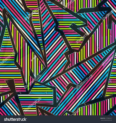 geometric neon pattern neon geometric seamless pattern stock vector illustration