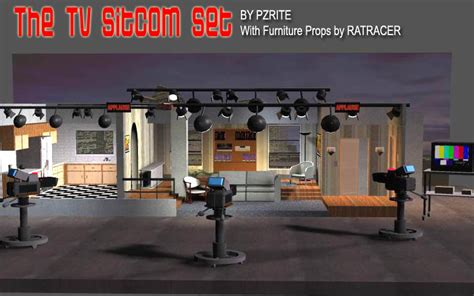 sitcom sets tv sitcom set 3d models pzrite