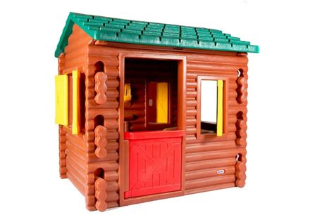 Plastic Log Cabin Playhouse by Tikes Plastic Log Cabin Playhouse