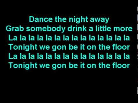 On The Floor Lyrics by Ft Pitbull On The Floor Lyrics On Screen