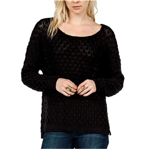 Sweater You Me And Me Black volcom for womens sweater black