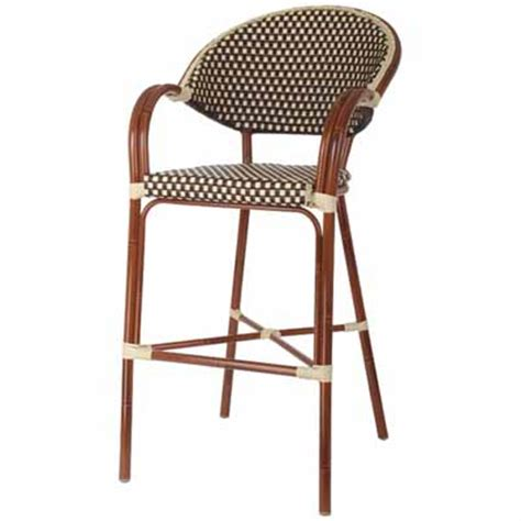 Woven Seat Bar Stools by Aluminum Bamboo Outdoor Bar Stool Millennium Seating