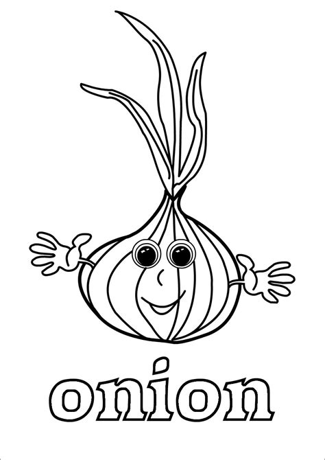 onions coloring pages coloringbay