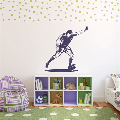 sports wall stickers rugby kick sports and hobbies wall stickers wall decal