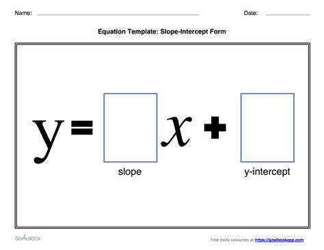 slope words writing equations in slope intercept form free worksheets