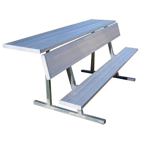 portable team bench 7 189 player bench with shelf natural finish jaypro