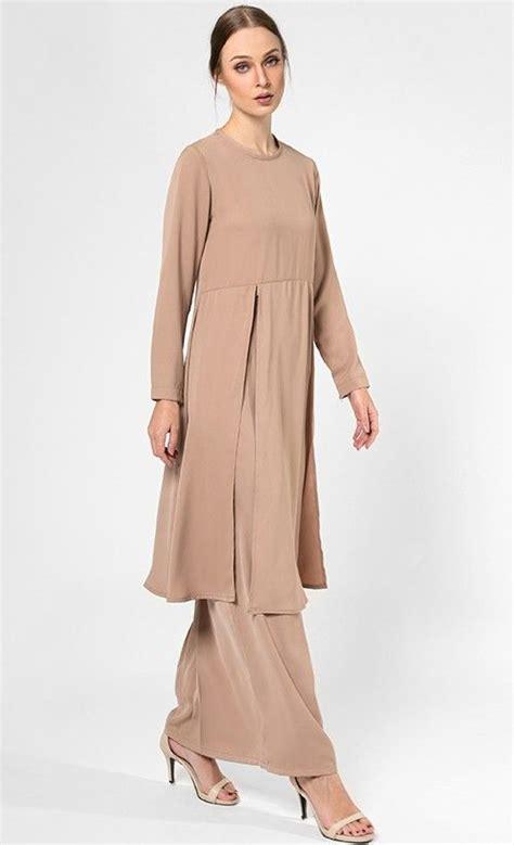 Set Baju Kebaya 7 Nstfull gamila kurung set in beige fashionvalet baju kurung