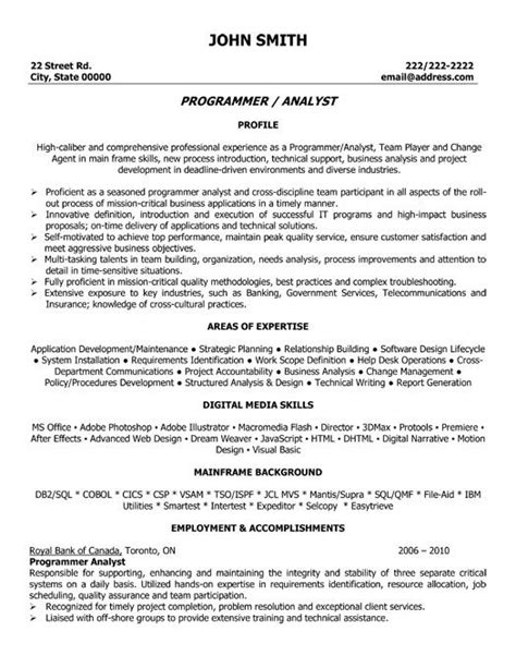 Resume Cover Letter Exles Programmer 8 Best Images About Best Java Developer Resume Templates Sles On Ux Ui Designer