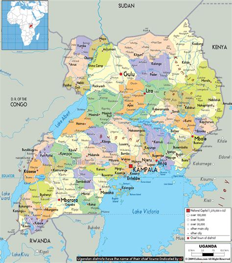 where is uganda on the world map maps of uganda map library maps of the world