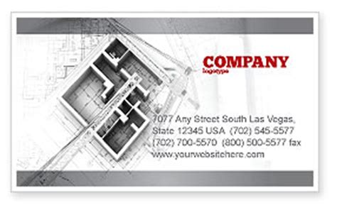 home remodeling plan business card template layout