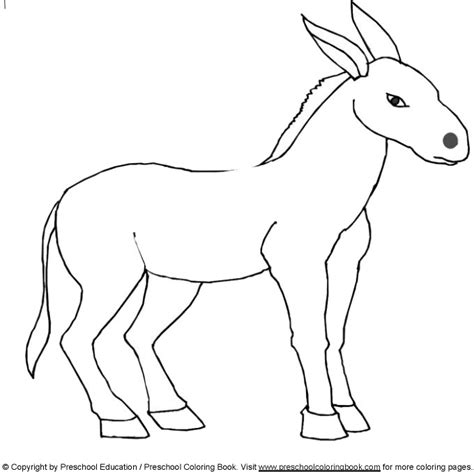 donkey coloring pages preschool www preschoolcoloringbook com animal coloring page