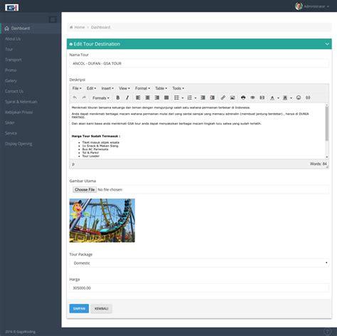 download source code gratis bisa di edit aplikasi e aplikasi tour travel dengan laravel 5 download source