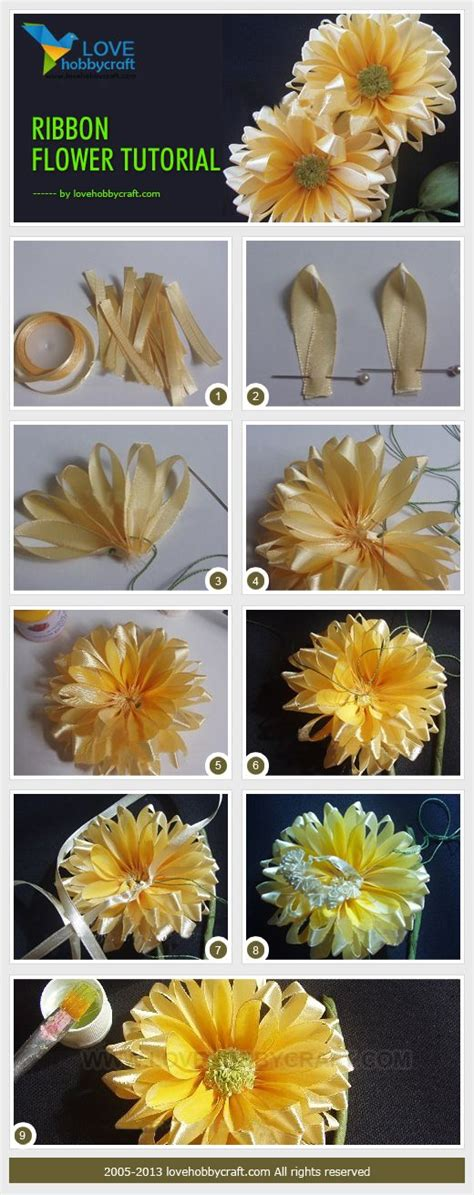 Handmade Ribbon Flowers Tutorial - ribbon flower tutorial another inspirational tuturial