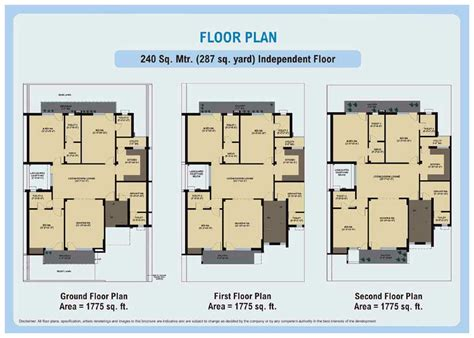 240 yard home design floor plans wave city an residential project at ghaziabad