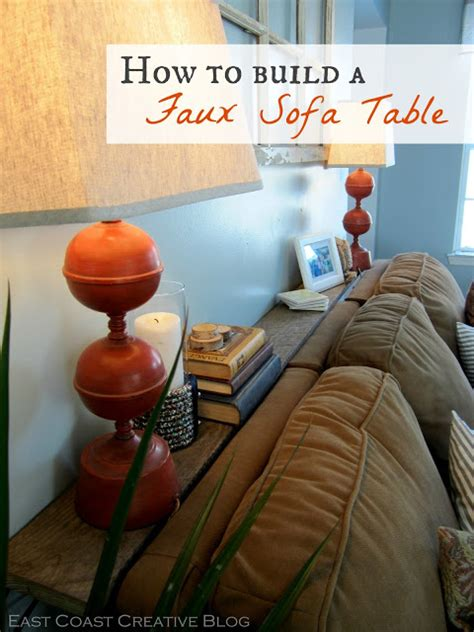 Sofa Table Against Wall by Faux Sofa Table Tutorial