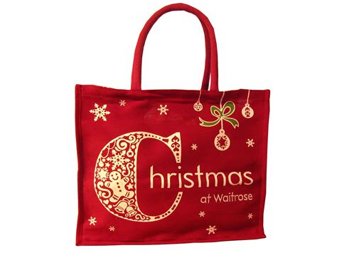 waitrose new christmas bag and shopper