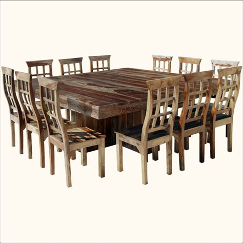 large square dining room table for 12 dining room tables - Square Dining Table For 12