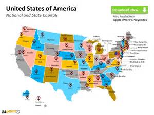 fillable us map powerpoint how to use effective ppt template for usa map