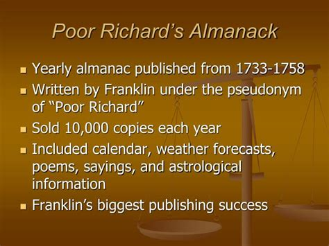 poor richard s almanac for 1850 as written by benjamin franklin for the years 1733 1734 1735 classic reprint books ppt the of benjamin franklin powerpoint