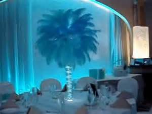 Aqua Glass Vase Tiffany Themed Sweet 16 Candelabras Centerpieces Amp Sign