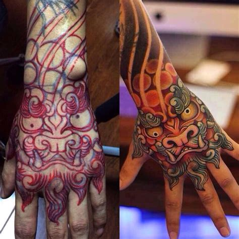 japanese tattoo on hand 68 best tattoos foo dog images on pinterest japan tattoo