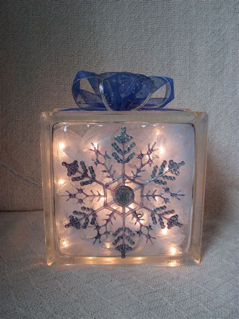 etsy home decor snowflake glass block home decor by candylandgifts on etsy