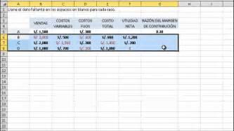 plantilla para calculo de ganancias costos y presupuestos 07 margen de contribuci 243 n y