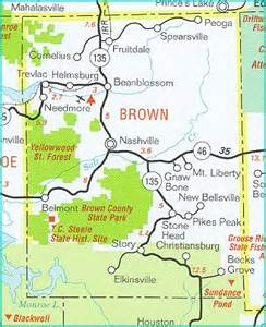 Brown County State Park Map by Indiana Brown County 171 Every County