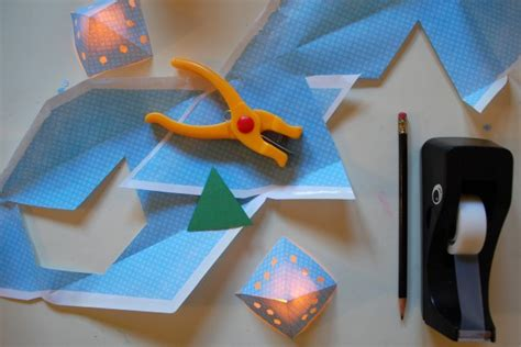 How To Make A Paper Lantern - diy paper pyramid lanterns tinkerlab