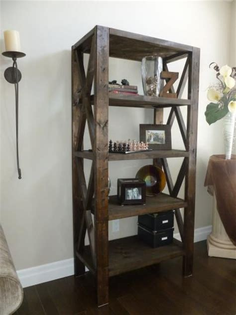 rustic bookcase do it yourself home projects from