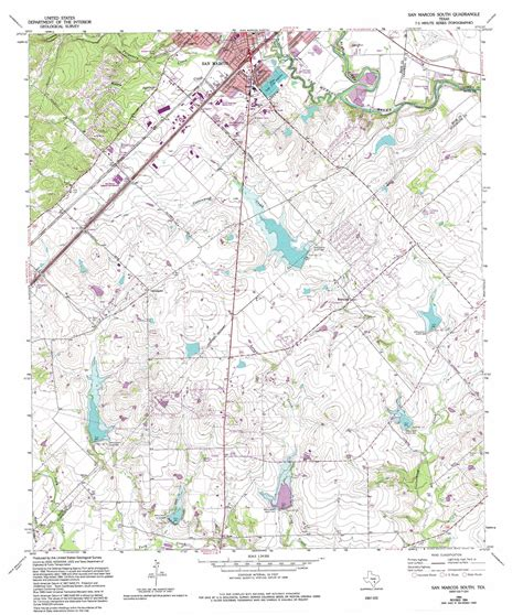 texas state san marcos map san marcos south topographic map tx usgs topo 29097g8