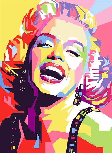 pop artists marylin pop painting by ahmad nusyirwan