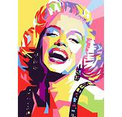 Marylin Monroe Pop Art Painting By Ahmad Nusyirwan
