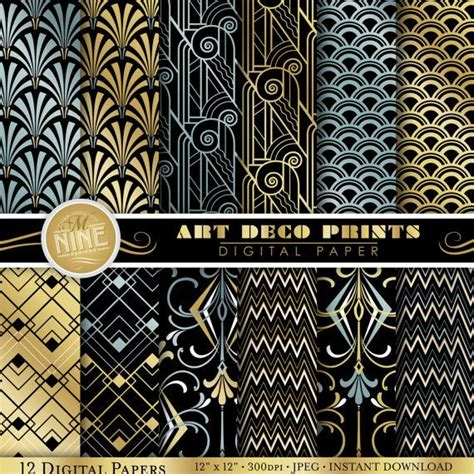 printable art deco designs art deco patterns 12 quot x 12 quot digital paper pack pattern