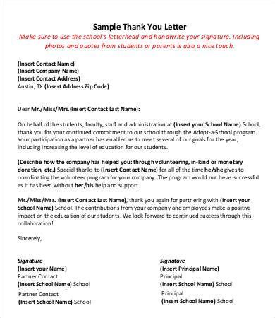 appreciation letter to from principal best 25 thank you to ideas on