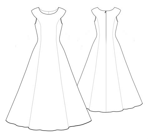 dress pattern draw wedding dress sewing pattern 5529 made to measure