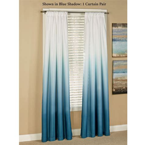 curtains with blue shades ombre curtains