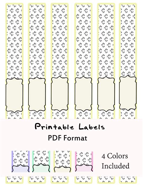 Printable Soap Band Labels