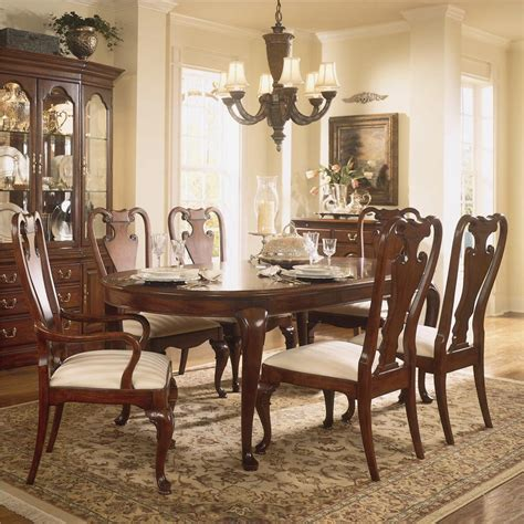 Dining Room Furniture American Drew Traditional Oval Dining Table By American Drew Wolf And