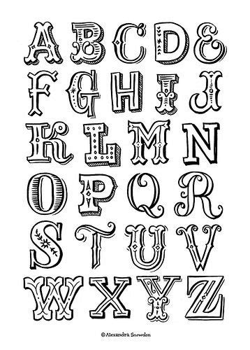 Best Handmade Fonts - best 25 lettering alphabet ideas on