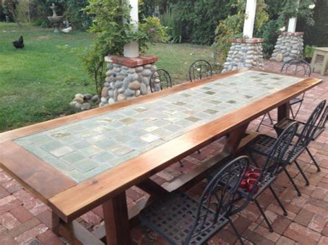 Diy Patio Table Top Reader Showcase Tile Top Provence Dining Table The Design Confidential