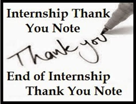 thank you letter after rotation thank you messages internship
