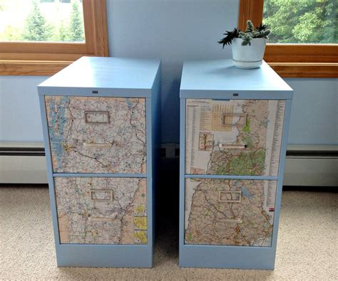 QuarDecor: File Cabinet Revamp: Snazzy Sister State Storage