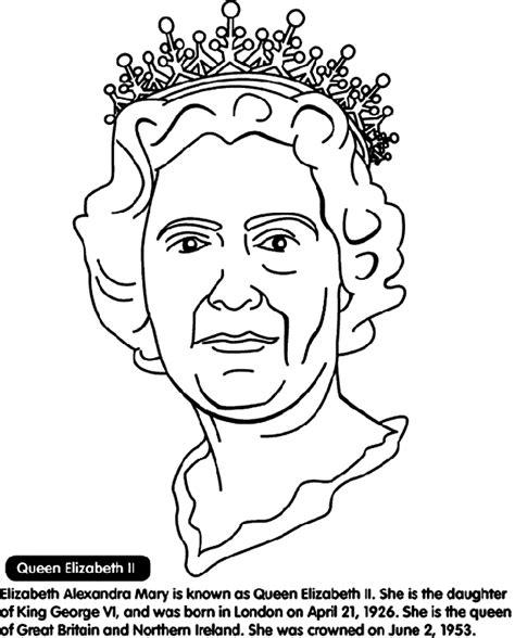 coloring pages of queen elizabeth queen elizabeth ii coloring page crayola com