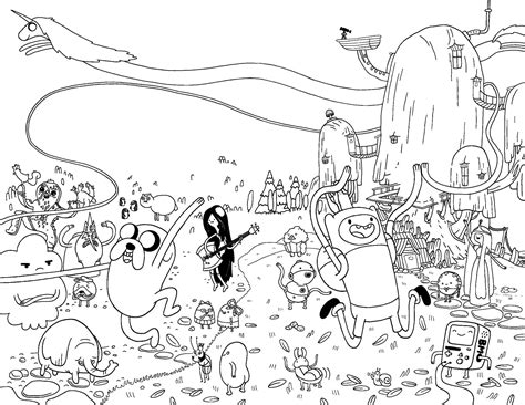 adventure time lineart google search poster ideas