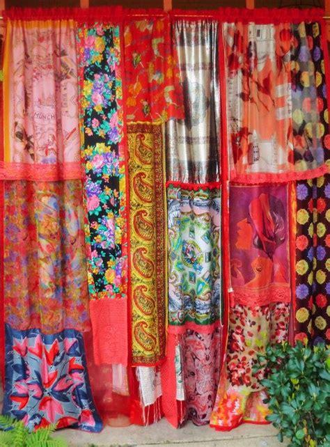 gypsy style curtains dancing shadows and firelight handmade gypsy curtains